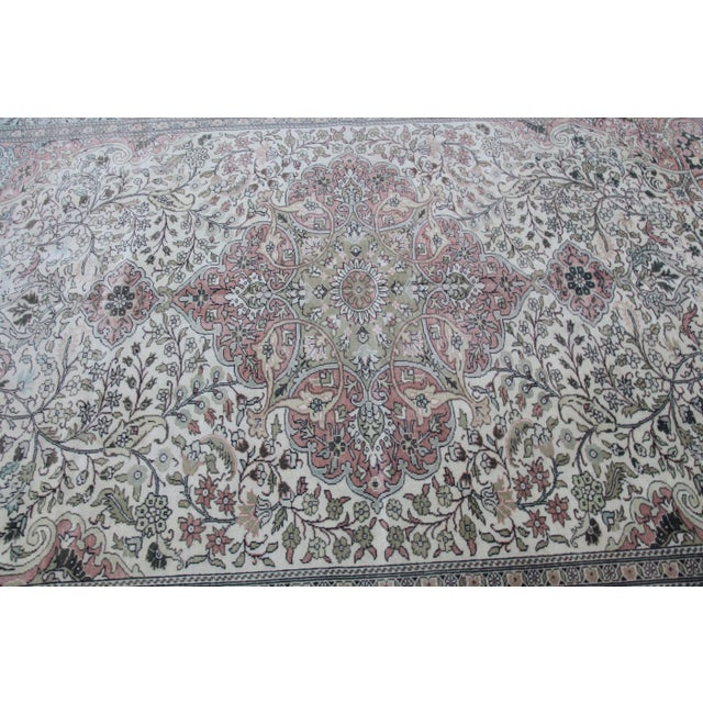 "Textile 1960s Vintage Floor Rug - 9'3'X 5'10"" For Sale - Image 7 of 13"