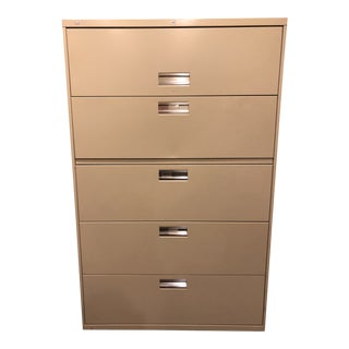 1990s Contemporary Hon Brigade 600 Series 5-Drawer Lateral Filing Cabinet For Sale