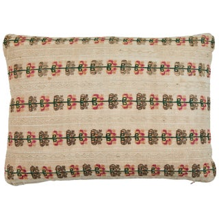 Greek Island Embroidery Pillow For Sale