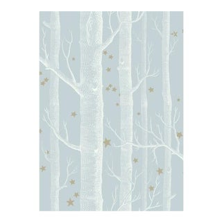 Cole & Son Woods & Stars Wallpaper Roll - Powder Blue For Sale