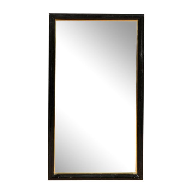 Smoked & Beveled Glass Wall Mirror For Sale
