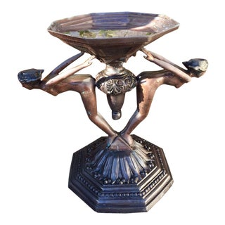 Joseph Giuseppe d'Aste Art Deco Bird Bath For Sale