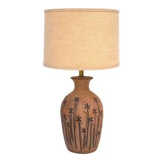 1960s Brent Bennett Studio Art Stoneware Table Lamp For Sale