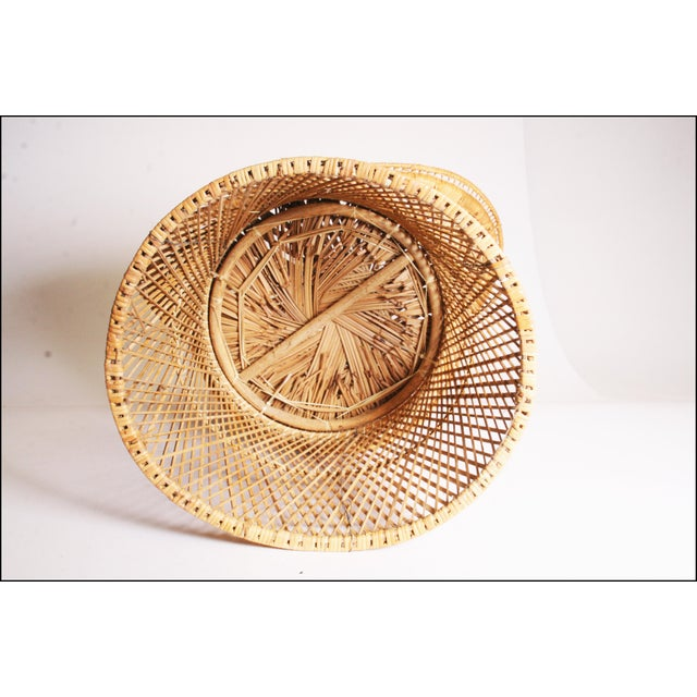 Vintage Boho Chic Wicker Pod Chair For Sale - Image 11 of 11