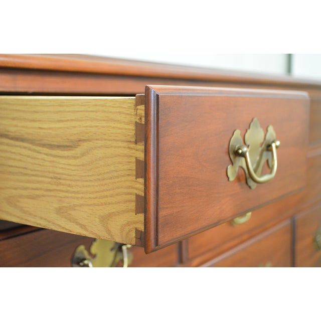 Henkel Harris Solid Cherry Chippendale Style Dresser - Image 6 of 10