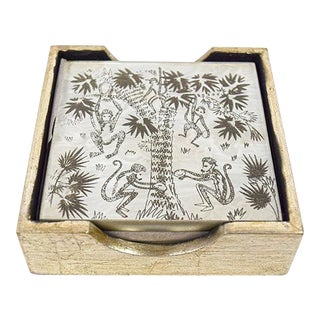 Waylande Gregory Monkey Palm Coasters - Set of 4