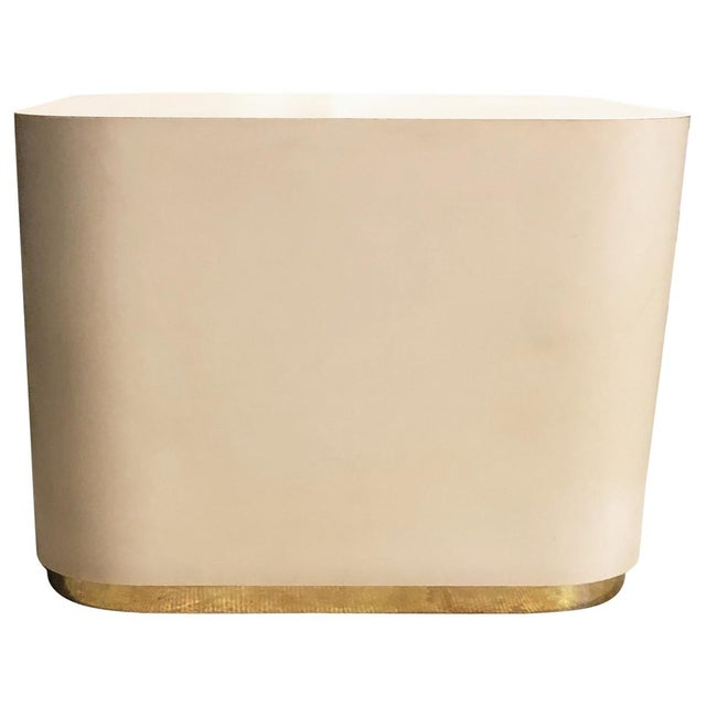 Brass 20th Century Modern Square Side Table For Sale - Image 7 of 7