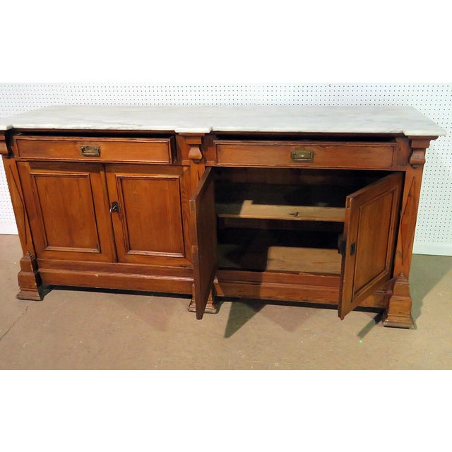 Early 20th Century Continental Style Marble Top Sideboard For Sale - Image 5 of 8