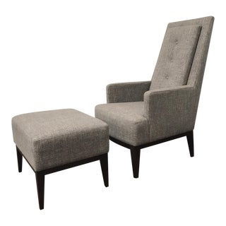 RJones Cecil Lounge Chair and Ottoman