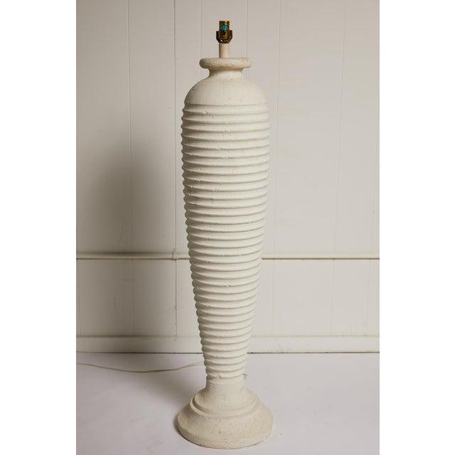 Hollywood Regency Vintage Plaster Sculptural Floor Lamp For Sale - Image 3 of 9