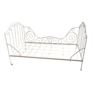 Vintage Cast Iron Daybed For Sale