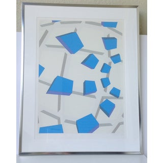 Original Signed Abstract Geometric Lithograph Preview