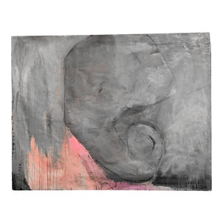 """""""Colosssal Elephant"""" Contemporary Abstract Mixed-Media Painting For Sale"""