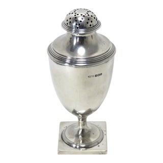Antique Sheffield England Sterling Silver Sugar Shaker Circa 1910 For Sale