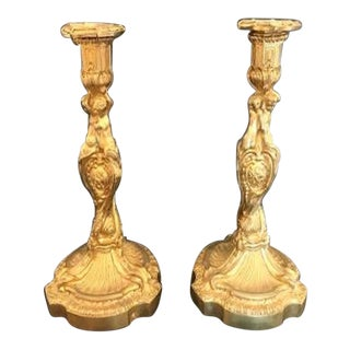 19th C. Louis XV Style Candlesticks, After Meissonier - a Pair For Sale