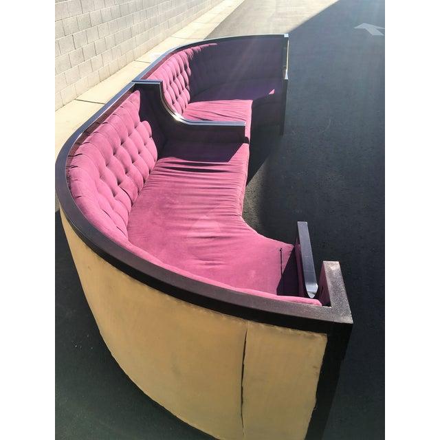 Large U-Shaped Purple Tufted VIP Sofa - Image 9 of 10
