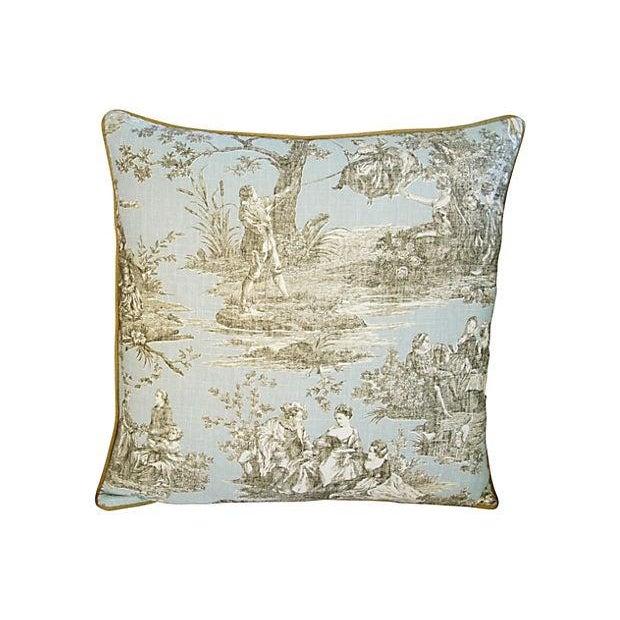 Custom Brunschwig & Fils Romantic Toile Pillow - Image 3 of 3