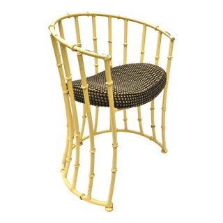Faux Bamboo Dining Set in Yellow, For Sale