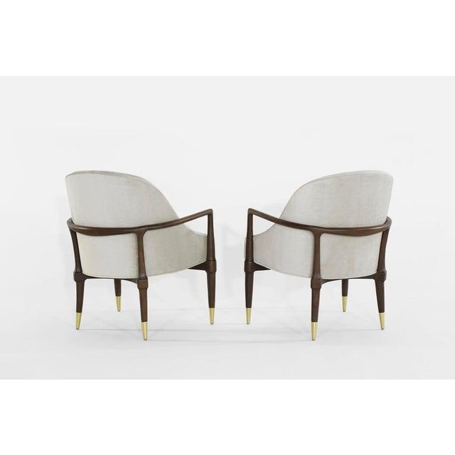 Mid-Century Modern Walnut Lounge Chairs - a Pair For Sale - Image 4 of 13