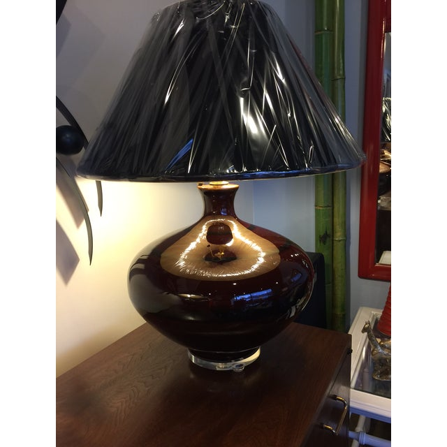 Mid-Century Brown Table Lamps - A Pair - Image 3 of 5