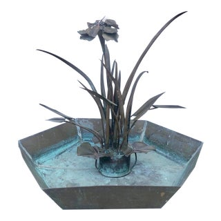 Large Brutalist Copper Fountain For Sale