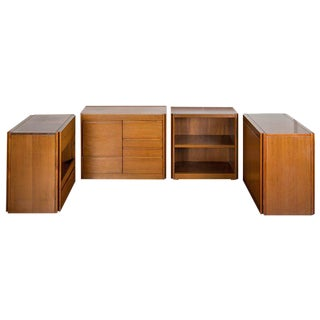 "Set of Four ""4D"" storage system by Angelo Mangiarotti for Molteni For Sale"