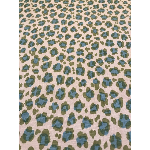 "Contemporary China Seas ""Conga Line"" Linen Fabric 3 6/8 Yards For Sale - Image 3 of 5"