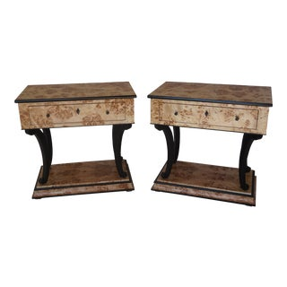 Early 20th Century Art Deco Side Tables - a Pair For Sale