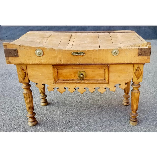 19th Century Parisian Butcher Block Table For Sale - Image 13 of 13