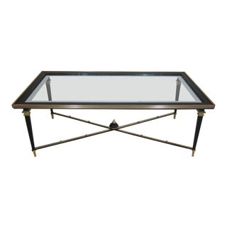 French Glass Cocktail Table For Sale