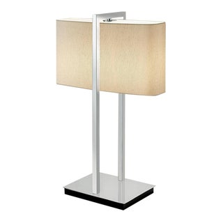Polished Chrome With Black Underbase Table Lamp For Sale