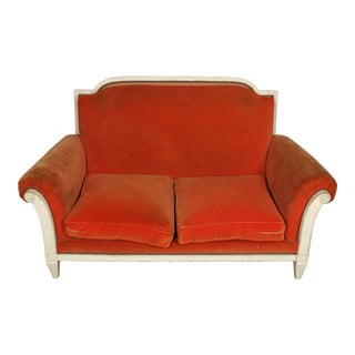 Jansen Style Painted Loveseat, 1940 For Sale
