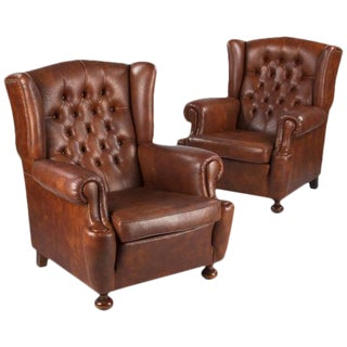 1960s French Tufted Armchairs - a Pair For Sale
