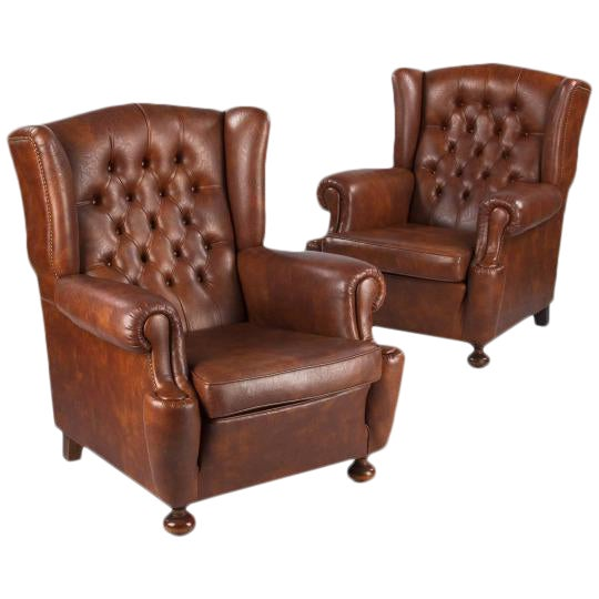 1960s Vintage French Tufted Armchairs - A Pair - Image 1 of 10