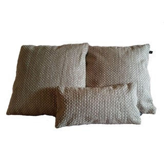 Nobilis Grain De Cafe Pillow Covers - Set of 3 For Sale