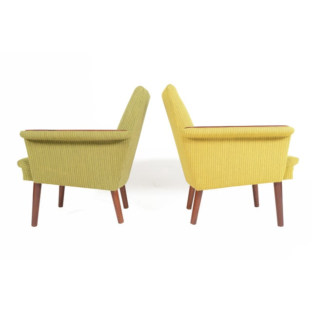 Danish Modern Teak Pawed Lounge Chairs - A Pair - Image 7 of 10