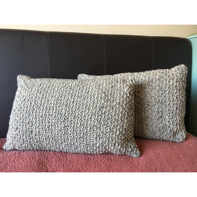 Knotted Wool Pillows, Warm Grey Decor Set/2 - Image 4 of 8