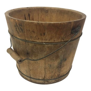 Antique Wooden Ice Bucket For Sale