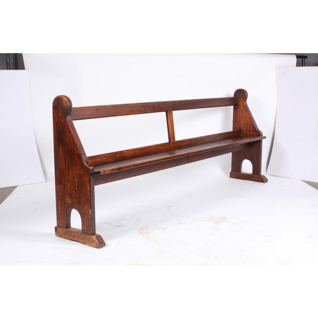 church pew bench p decorative solid in wells large antique antiques oak