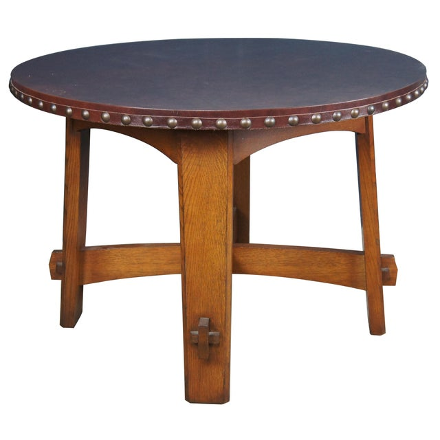Arts & Crafts Mission Stickley Commemorative Library Center Table For Sale - Image 3 of 13