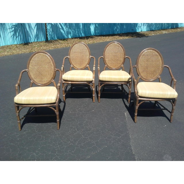 McGuire Louis XVI Cane Seat Chairs - Set of 4 For Sale - Image 9 of 9