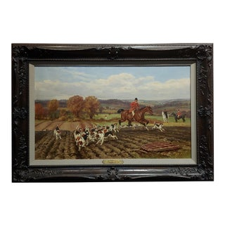 Thomas Blinks - the Fox Hunt -19th Century English Oil Painting For Sale