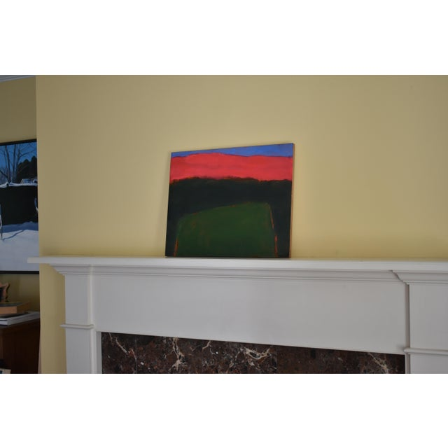 """Blue 2010s Abstract Painting, """"Field Rising at Sunset"""" by Stephen Remick For Sale - Image 8 of 9"""