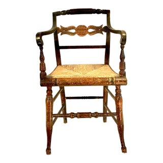 19th Century, Regency Style, Fancy Painted Accent Chair For Sale