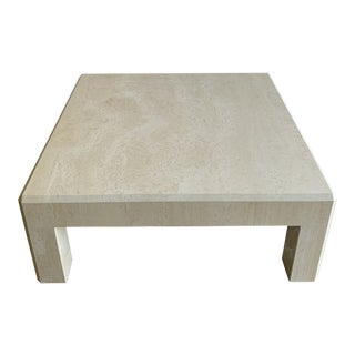 1970s Italian Travertine Coffee Table For Sale