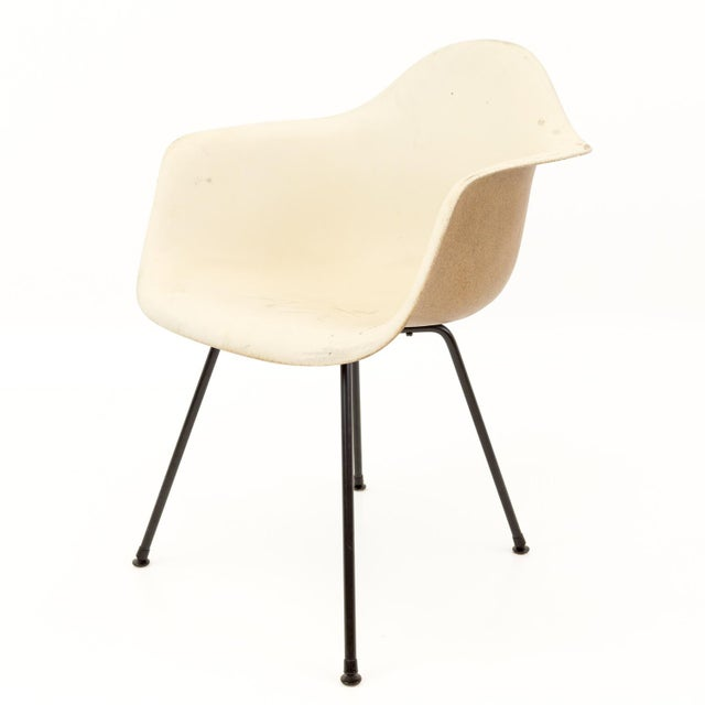 Mid-Century Modern Eames for Herman Miller Molded Plastic X-Base Shell Chairs - a Pair For Sale - Image 10 of 11