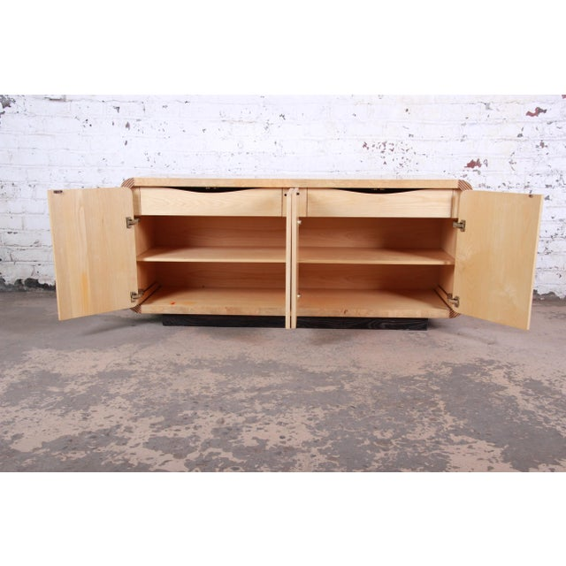 Wood Burled Olive Wood Credenza by Henredon For Sale - Image 7 of 13