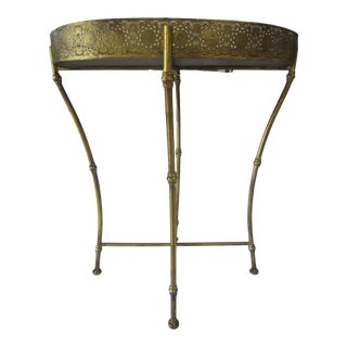 1960s Brass Tray Table For Sale