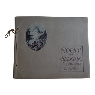 Antique Book Rocky and Selkirk Mountains Canada, With Photo Plates