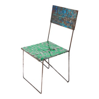 Metal Recycled Oil Drum Dining Chair